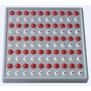 ABACO 100 (bianco e rosso - con numeri)