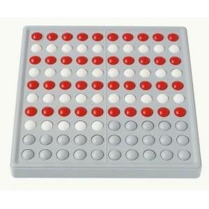 ABACO 100 (bianco e rosso - senza numeri)