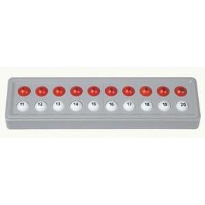 ABACO 20 (bianco e rosso - con numeri)